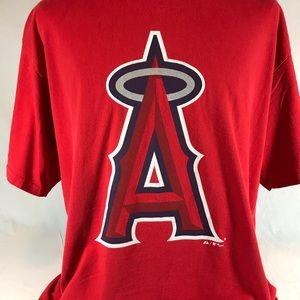 Los Angeles Angels Anaheim T Shirt Red A Logo XL